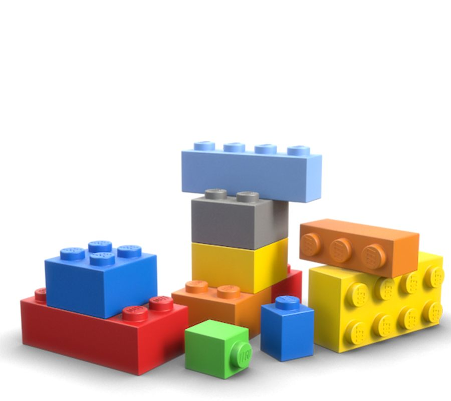 A pile of colourful Lego bricks